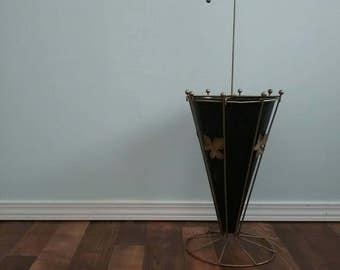 Umbrella Stand Mid Century Regency Wire Rack Stand  Customizable Paint