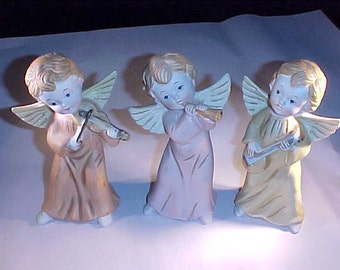 Porcelain Angel Musicians Homco Made in Taiwan