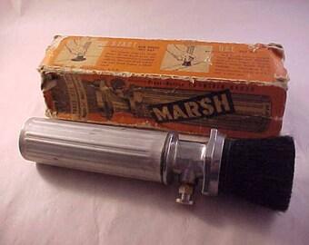 Marsh Press-Button Fountain Stenciling Brush Vintage Advertising