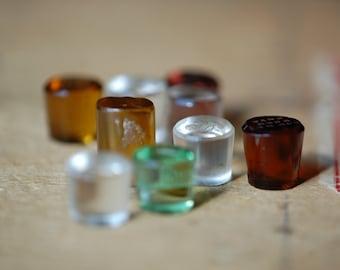 Antique Victorian loose intaglio wax seals ∙ antique glass intaglio desk letter seals
