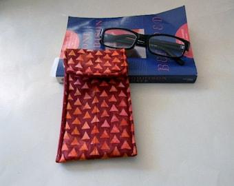 Sizzling Red Batik Glasses Case