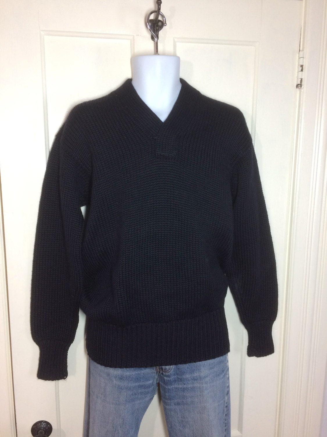 1940's WWII Military thick chunky wool Sweater looks size Large ...