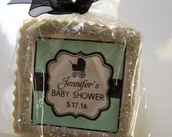 custom cookie favors baby shower vintage stroller