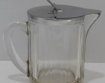 1951 McKee Heavy Glass Syrup Jar