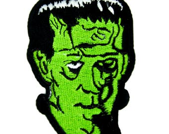 Classic Monster Movie Frankenstein Patch Iron on Applique Clothing Creature Feature - YDS-PA-228-PATCH