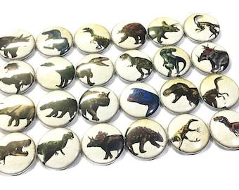 "Dinosaur Magnet, 1"", 1.5"", Button Magnet, Dinosaur Decor, Dinosaur Theme, Dinosaur Party Favor, Prehistoric, Dino Magnet, Jurrasic Magnet"