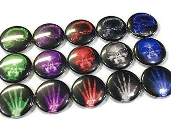 "Radiology Brights, 1"" Button, Xray Button, Radiology Pin, Bone Party Favor, Xray Theme, Bone Decor, Radiology Gift, Xray Pin, Bone Pin, Xray"