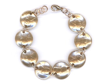 80th Birthday Gift 1937 Penny Coin Bracelet Jewelry 1937 80th Gift Ideas Women