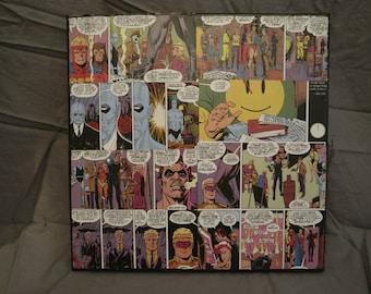 """DC Comics Watchmen 12""""x12"""" Comic Collage Canvas"""