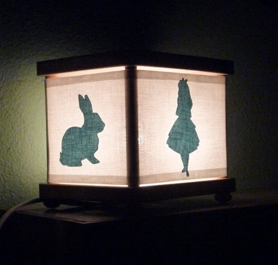 alice in wonderland night light rabbit decor