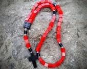 Lego Rosary - The Original Catholic Lego Rosary - Red, Black and Gray for Boys Baptism Gift