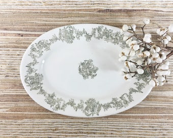 Ironstone Platter-Vintage Greenwood China-Transferware