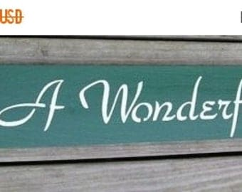 ON SALE TODAY Its A Wonderful Life Inspirational Wood Sign Wall Decor
