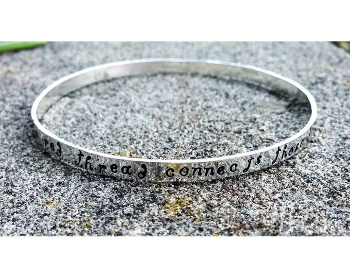 Birth Designs -Sterling Silver Bangle Bracelet - Personalized