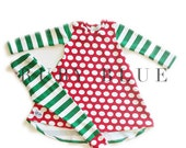 Sylvie Candy Cane Christmas Dress with Leggings
