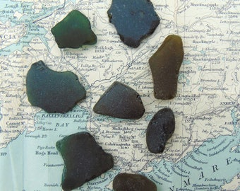 Irish Sea Glass Genuine Seaglass Deep Green Mermaid's Tears from Ireland.