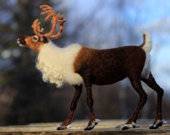 Needle felted reindeer for Christmas - ready to ship