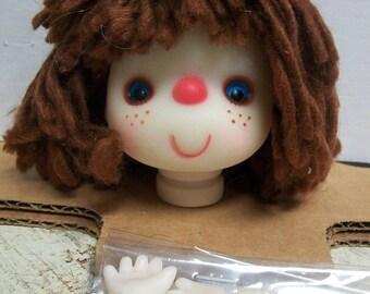 Small Vintage Mitzy/Dumplin Doll/Angie Brown Yarn Hair Head Hands Kit