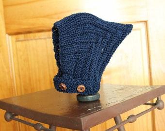 Navy Blue Pixie Bonnet - 12 months