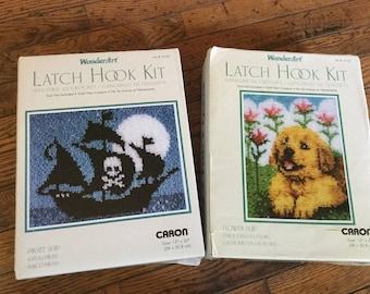 Vintage Wonderart Latch Hook Kit Kits Lot
