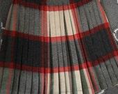 Vintage Pendleton Turnabout Skirt, Vintage Wool Skirt, Vintage Pleated Skirt, Classic Wool Skirt