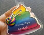 Unicorn Poop Keychain
