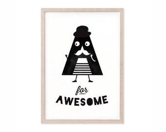 A for Awesome Print