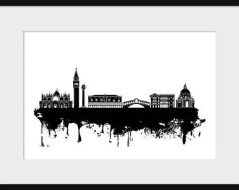 Venice Italy Skyline Print Poster