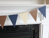 Reserved for Patricia for 10 Foot - Paper Bunting Flag Mantel Garland in Lime Green, Navy and White - Party Shower Banner