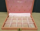 Vintage Coral Colored Jewelry Box