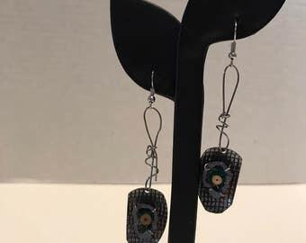 Steampunk industrial style earrings