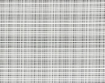 Code in White from the Geogram fabric collection by Samarra Khaja for Lecien -31447L-10 blender