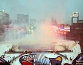 Winter Classic 2017 Chicago BLACKHAWKS St. Louis Blues 8x10 Anthem fireworks
