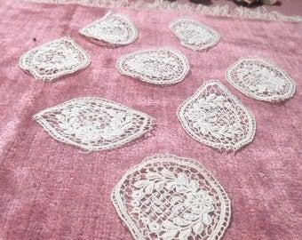 Antique Lace Cotton Applique Lot 1920s Embellishments