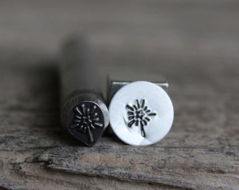 Bright Star Holiday Metal Stamp-3/8 inch-8mm (approx) image-Metal or Leather Stamping Tool-Stamp Metal with New Design Metal Supply