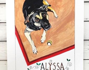 Custom Dog Portrait- Dog Lover Gift- Dog Art- Dog Memorial Gift- Pet Loss- Custom Dog Painting- Custom Pet Portrait- Custom Pet Painting