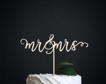 mr & mrs wedding cake topper | wedding cake topper | wood cake topper | love cake topper | rustic cake topper | romantic cake topper