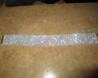 Kim kardashian Choker, genuine crystal rhinestone choker - Thick Wide Sparkly Trim, Trendy, CELEBRITY INSPIRED