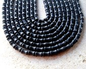 Blackstone Dog Bone Beads, Gemstone Beads, Jewelry Making, Craft Supplies, Bead Supplies, Black Beads, Necklace Design, Stone Beads, (1)