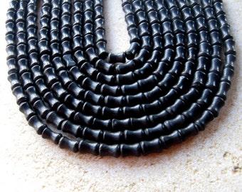 Blackstone Dog Bone Beads, Gemstone Beads, Jewelry Making, Craft Supplies, Bead Supplies, Black Beads, Necklace Design, Stone Beads, (1)