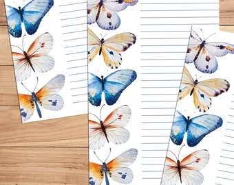 Butterfly Bliss - A5 Stationery - 12, 24 or 48 sheets