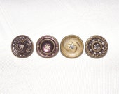 Star Twinkle Buttons Mix of 4 small Victorian Buttons