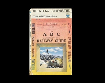1970 Fontana Paperback. The ABC Murders, by Agatha Christie. Book. Books. Mystery Crime Thriller.