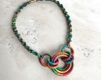 Textile Necklace Toucan