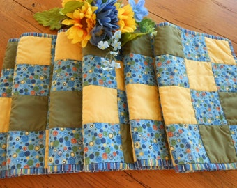 Patchwork Reversible Vintage Placemats Retro Place Mats Country Style Placemats Free Shipping