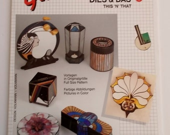 1992 OOP Glas Design 'This and That 1' Stained Glass Patterns Amazing 3D Abstracts