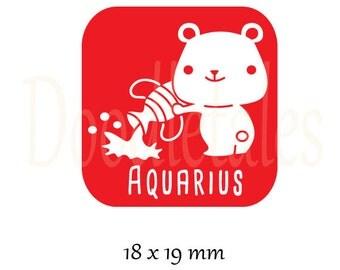 Horoscope Aquarius (Rubber Stamp)