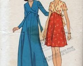 Vintage Maternity Dress in Two Lengths Sewing Pattern - Simplicity 9296 - Sizes 6 & 8