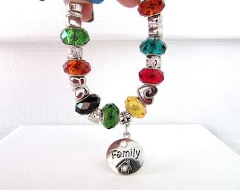 Family Bracelet, Personalized Bracelet, Birthstone Bracelet, Nana Bracelet, Personalized Gfit, Mother Day, Birthday, Free Us Shipping