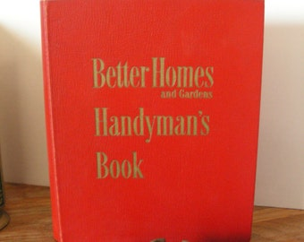FREE SHIPPING Vintage Handyman Guidebook, Better Homes and Gardens
